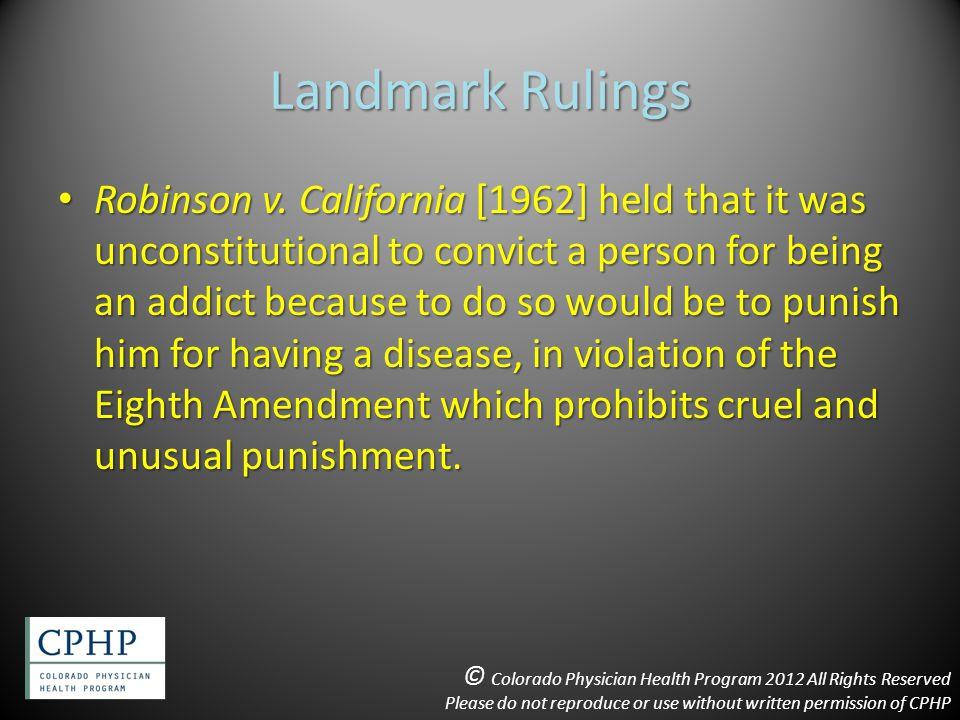 Landmark Rulings Robinson v.