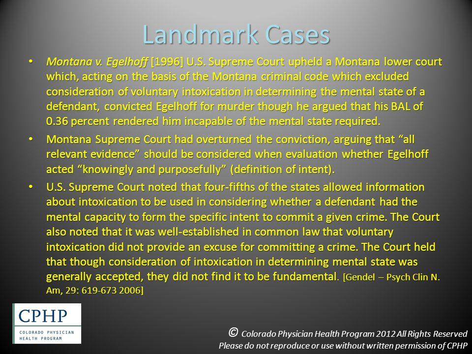 Landmark Cases Montana v. Egelhoff [1996] U.S.