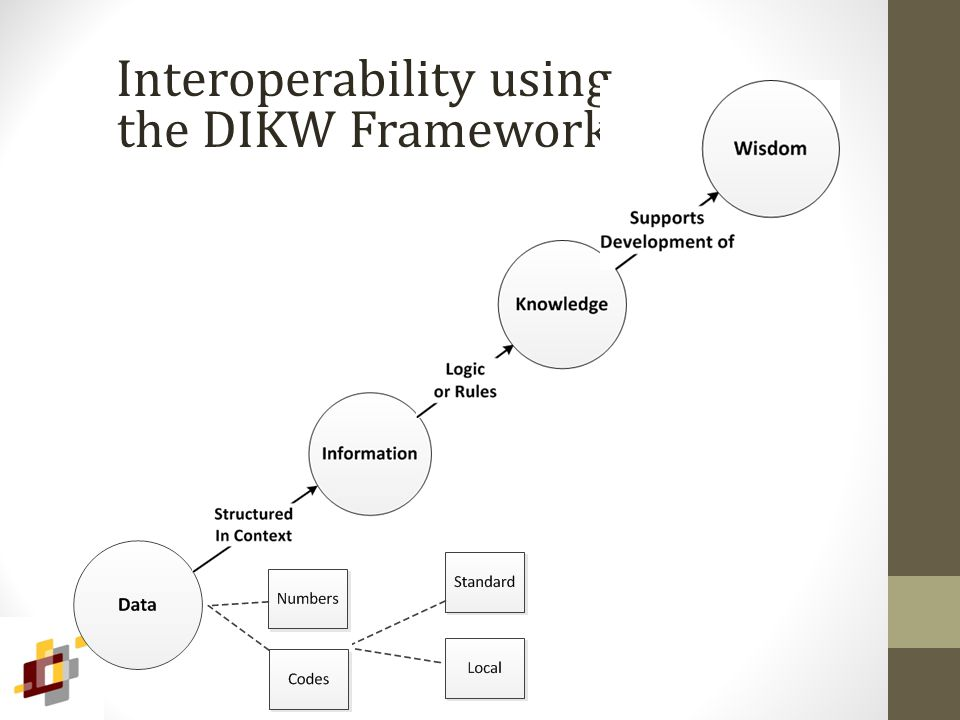 Interoperability using the DIKW Framework