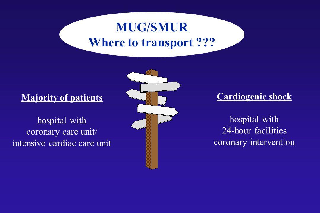 MUG/SMUR Where to transport .