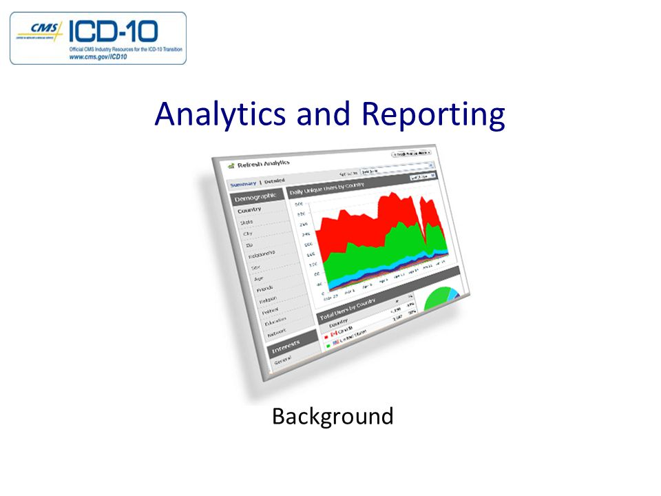 Background Analytics and Reporting