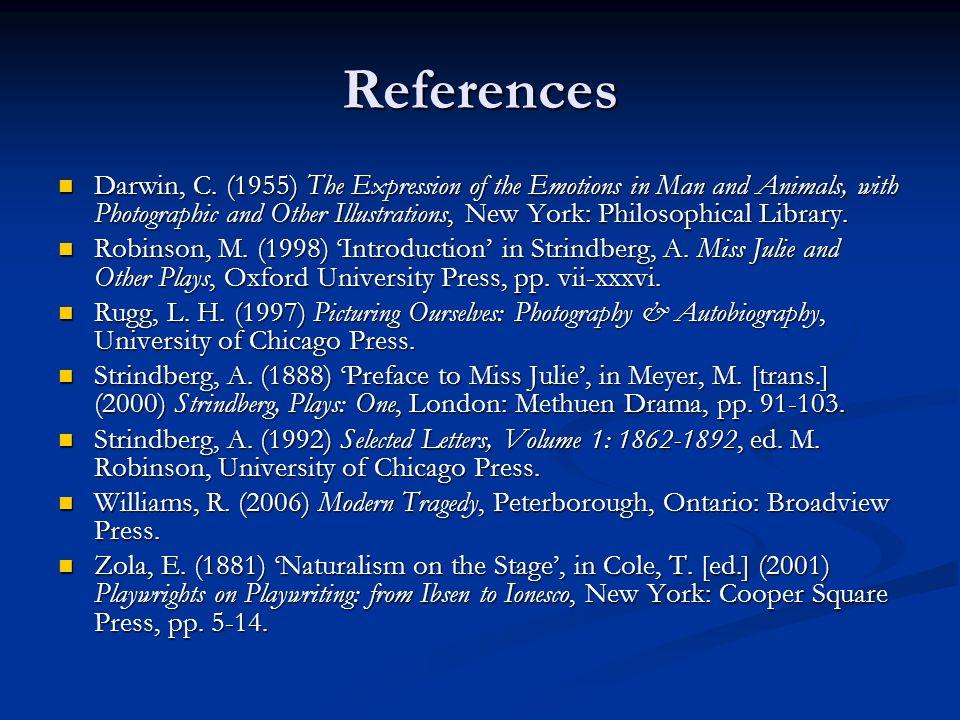 References Darwin, C.
