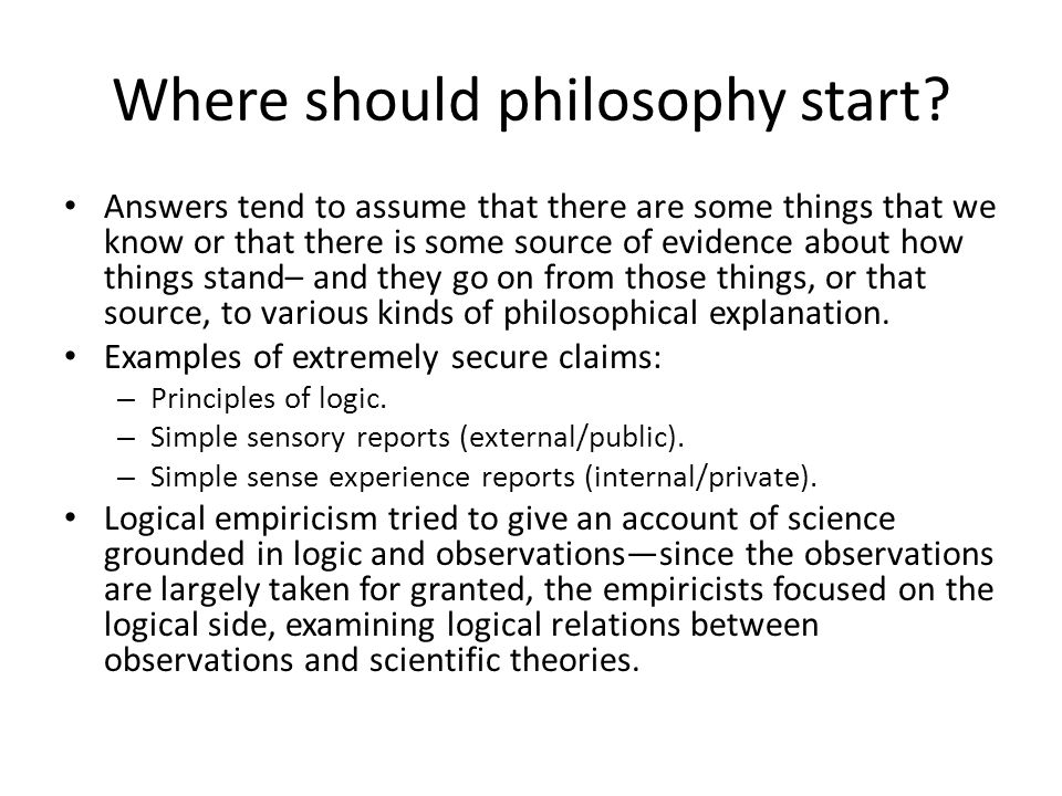 After logical empiricism The logical ambitions of the LEs failed– no formal account of induction is possible.