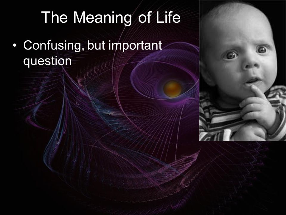 The Infinity Connection A meaningful connection with the infinite is required for a truly meaningful life Needs further explanation Assumed to be plausible