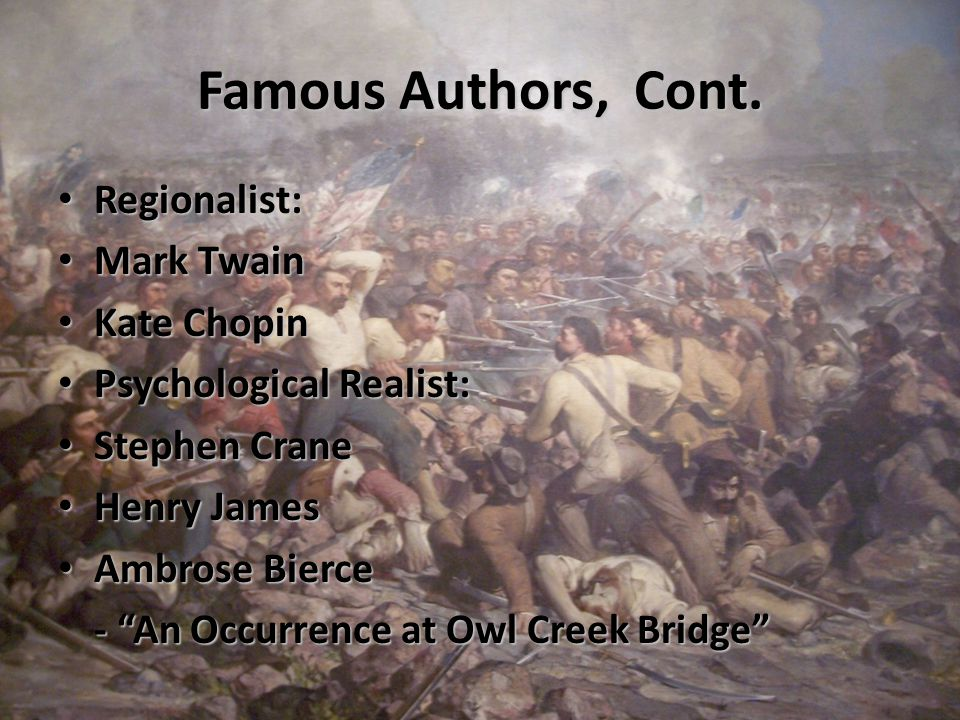Famous Authors, Cont.