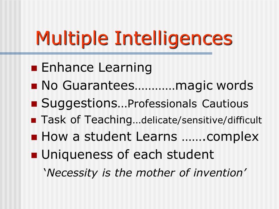 Caroline McHale PDST Caroline McHale PDST Multiple Intelligences