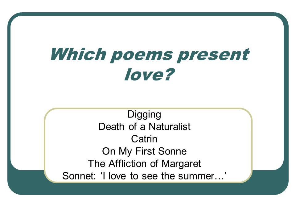 Which poems use violent or threatening imagery.