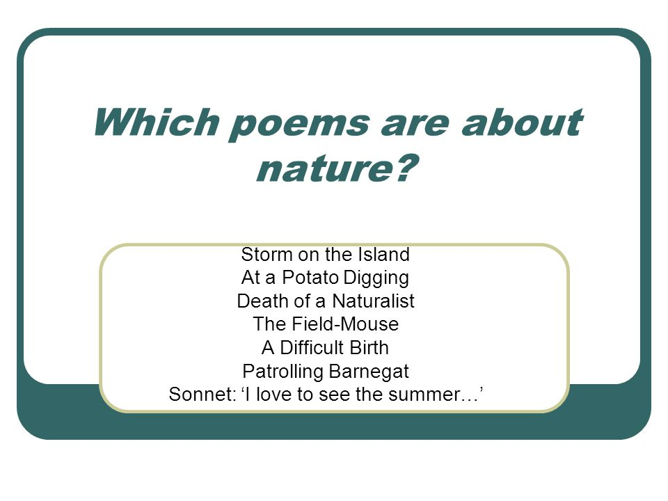 Which poems are about past and present.