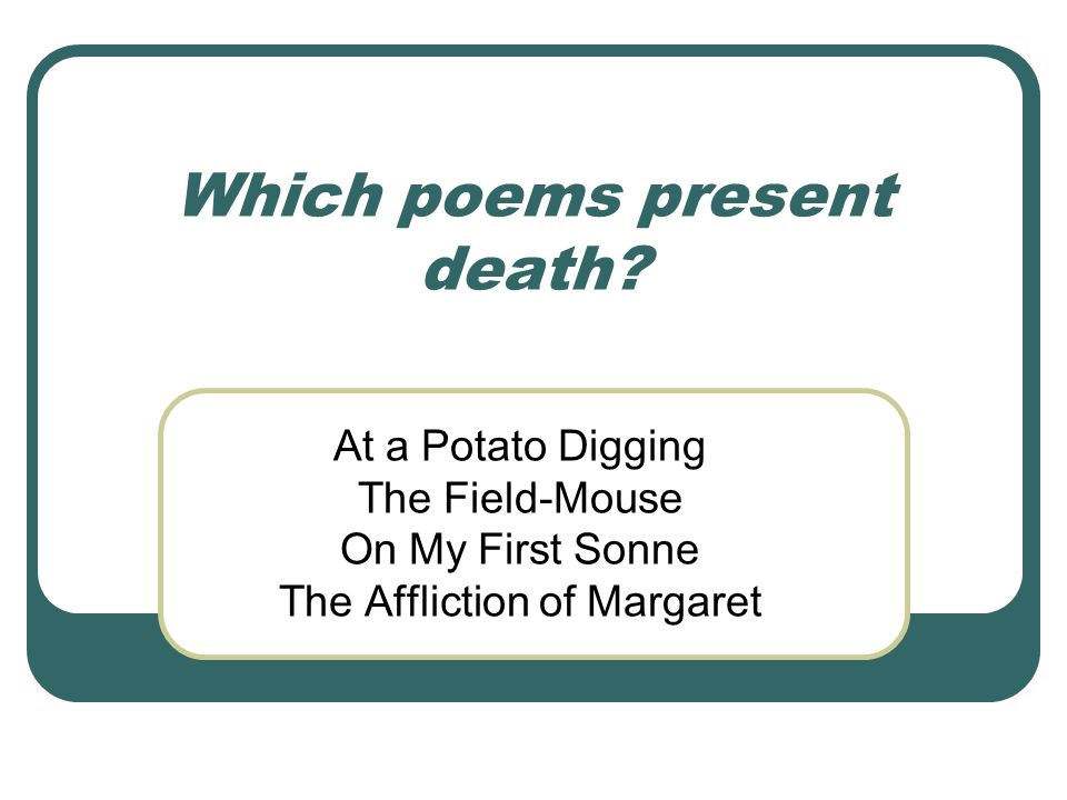 Which poems present love.