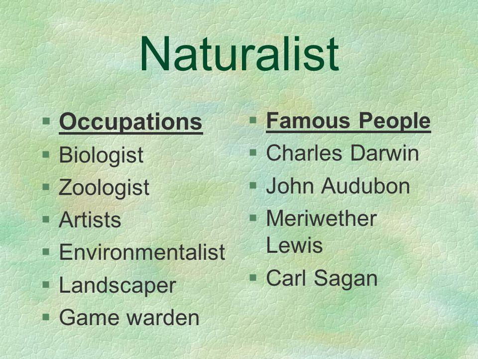 Naturalist §Nature §Classification §Flora/Fauna §Patterns §Environment §Sorting §Memory