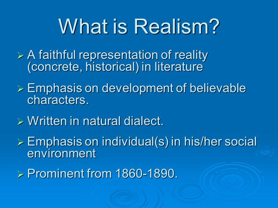 What is Realism.