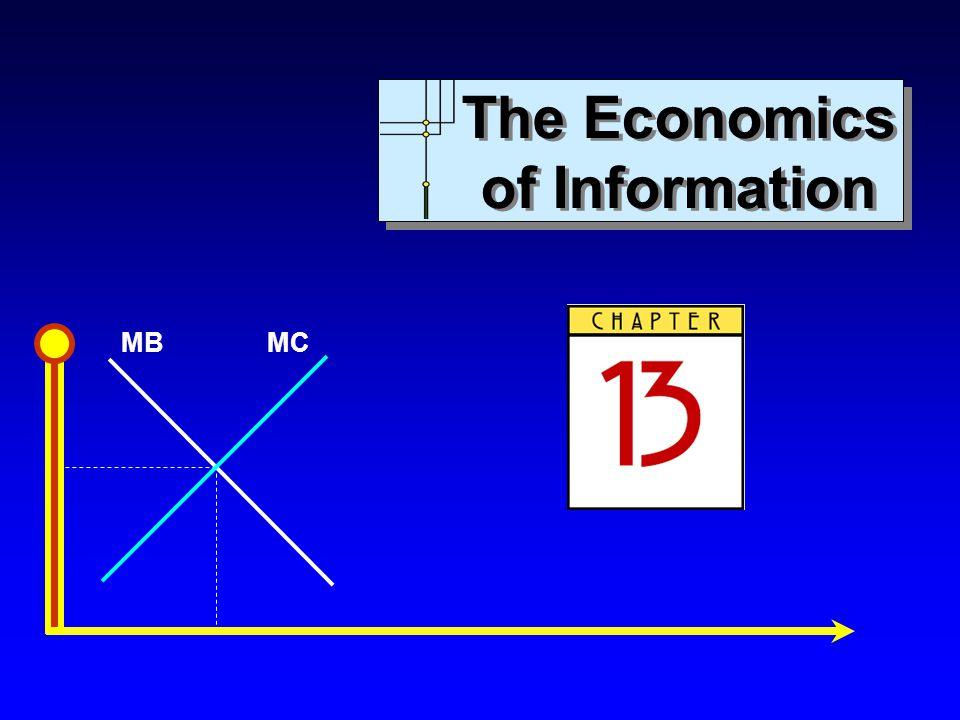 MBMC The Economics of Information The Economics of Information