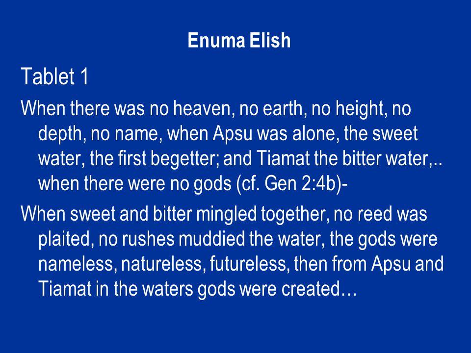 Marduk slaying Tiamat. Enuma Elish.