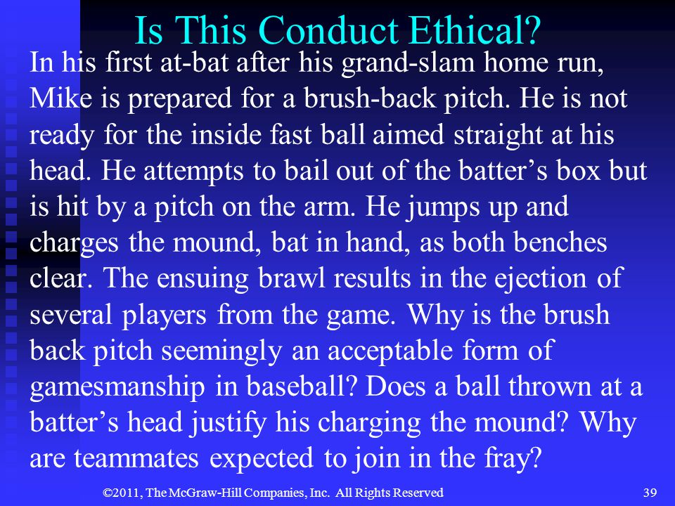 ©2011, The McGraw-Hill Companies, Inc.All Rights Reserved39 Is This Conduct Ethical.