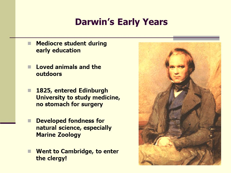Foundations of Darwinism Darwin and Wallace independently came up with a credible MECHANISM that could produce evolutionary changes Both men Stimulated by: 1.