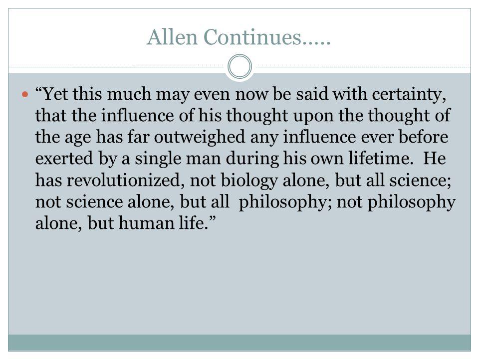Allen Continues…..