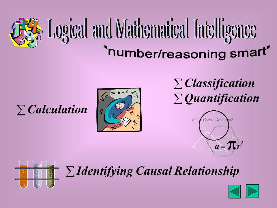  Calculation  Classification  Identifying Causal Relationship  Quantification