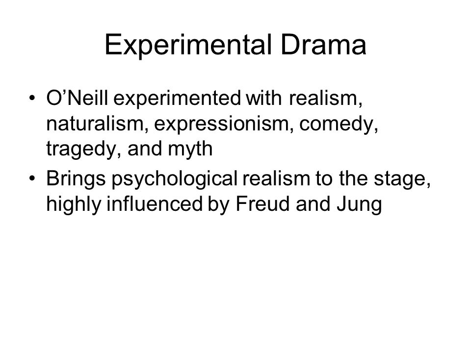 Sometimes these (O Neill s major works) involve what appears to be a criticism of society.