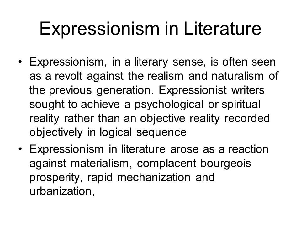 In forging a drama of social protest, Expressionist writers aimed to convey their ideas through a new style.