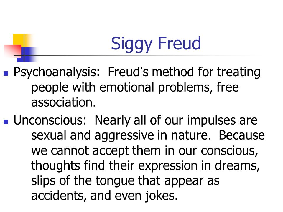 Psychoanalytic Theory Sigmund Freud, 1856-1939. Studied neurology, but wanted to be a medical researcher, forced into being a private physician. Becam