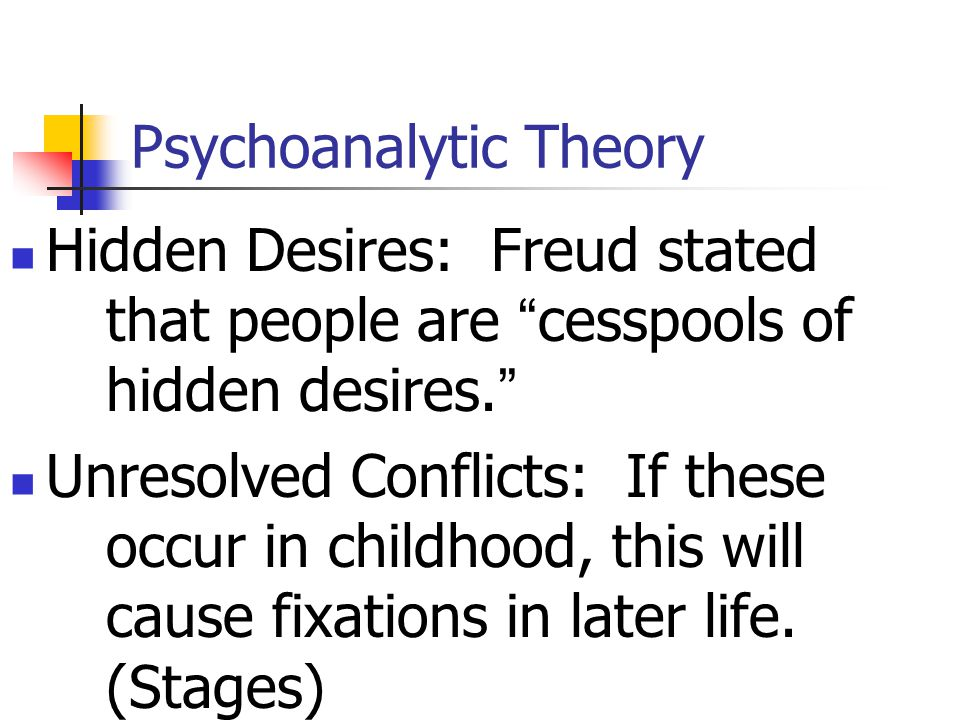 Psychoanalytic Theory Interpretation of Dreams, 1900. Sold 600 copies in 8 years; today sells millions every year. Aggressive energy: Basic human inst