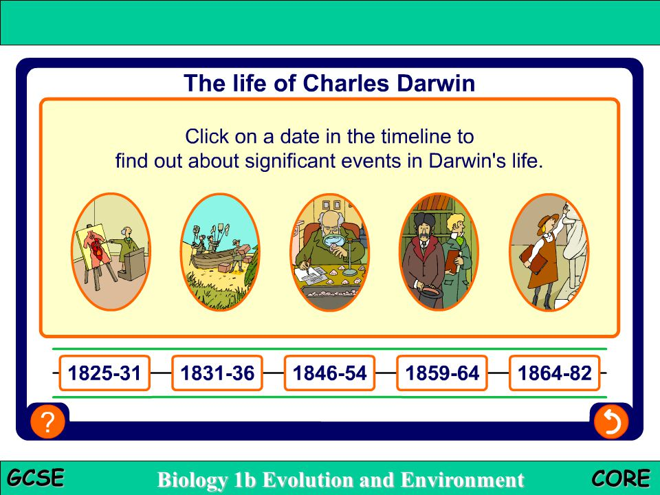 Biology 1b Evolution and Environment GCSE CORE Who was Charles Darwin?