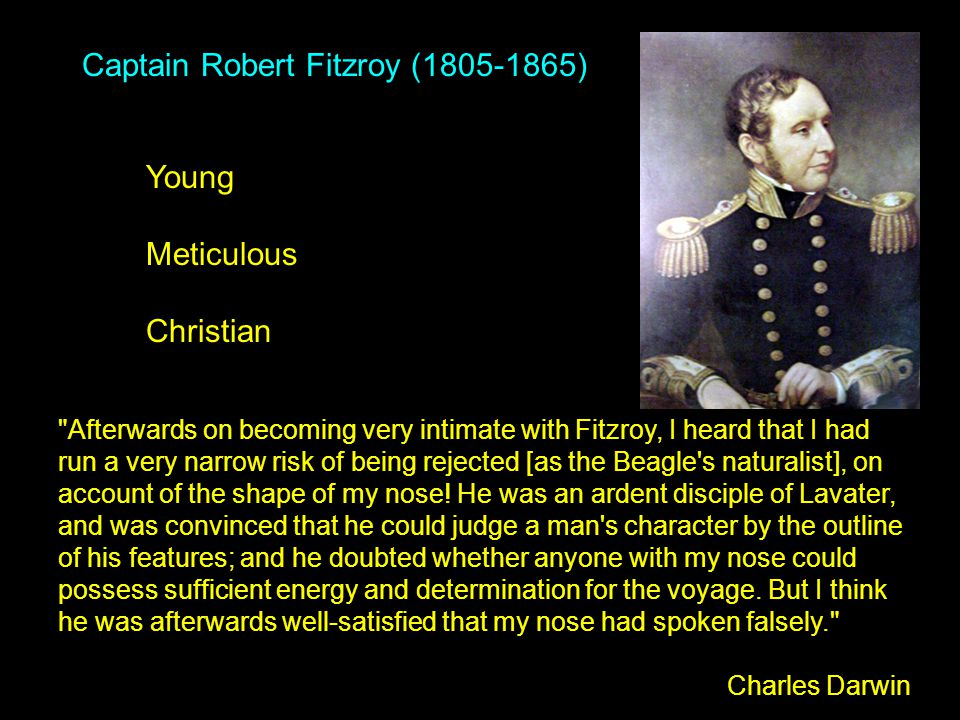 Captain Robert Fitzroy (1805-1865) Young Meticulous Christian