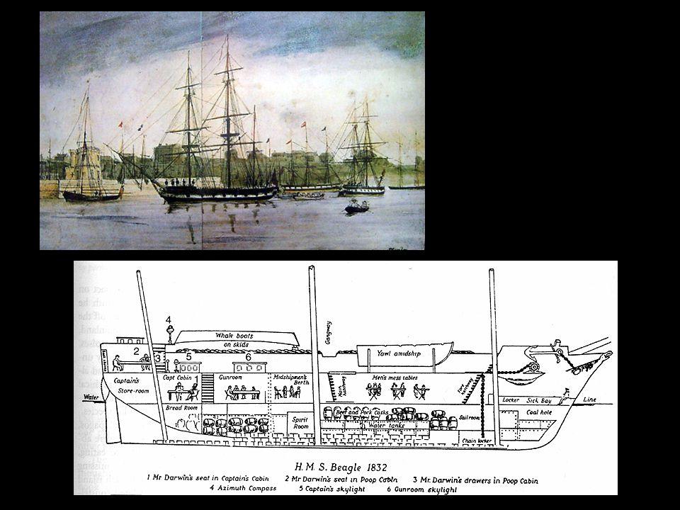 Darwin's Voyage on the HMS Beagle Dec 1831 - Oct 1836
