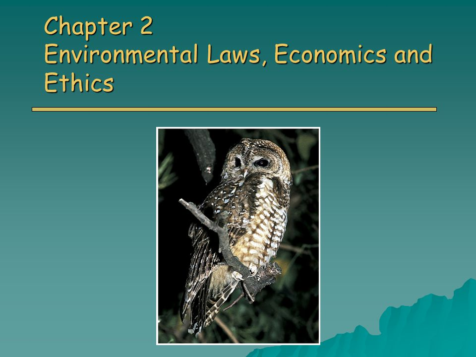 Chapter 2 Environmental Laws, Economics and Ethics