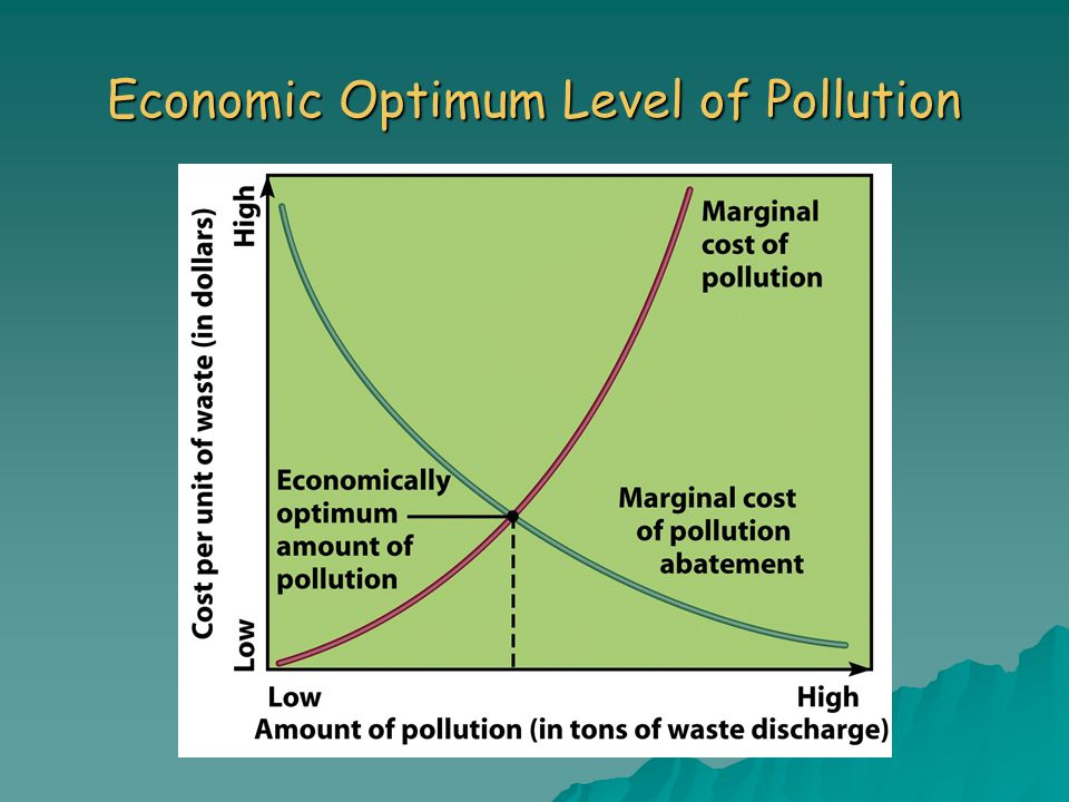 Economic Optimum Level of Pollution