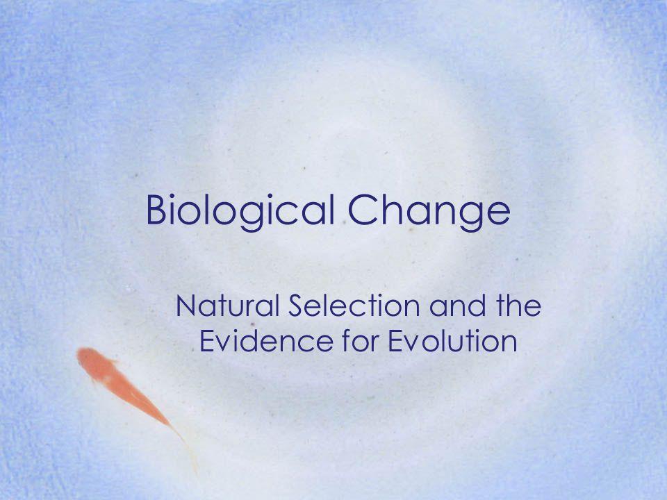 Biological Change Species Change