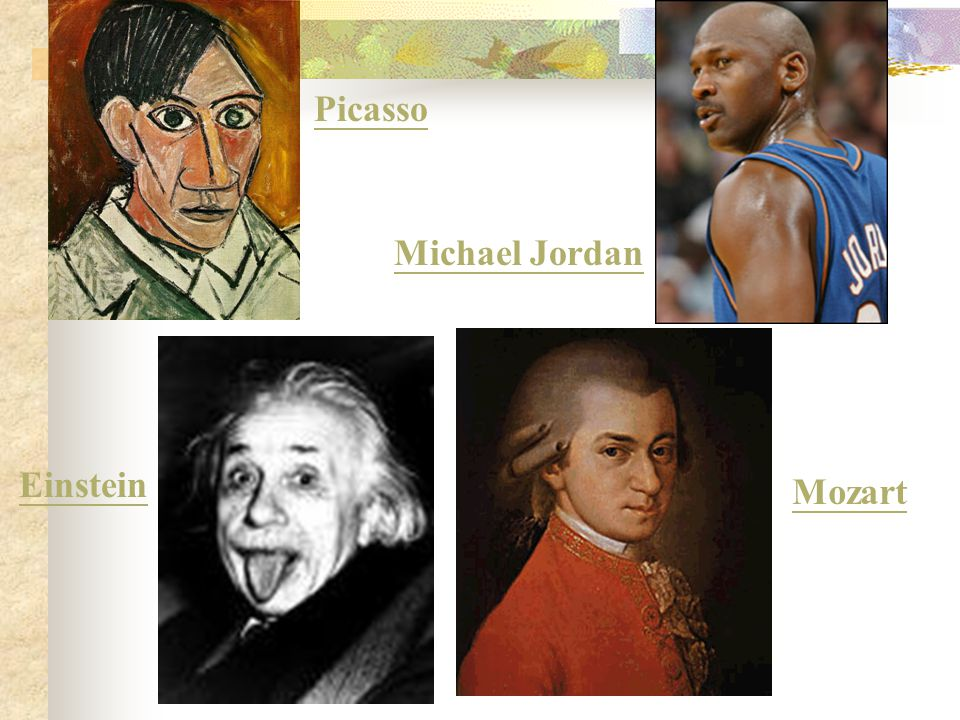 A Matching Game Please match the following famous people with the kind of intelligence they have.