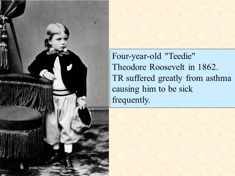 Four-year-old Teedie Theodore Roosevelt in 1862.