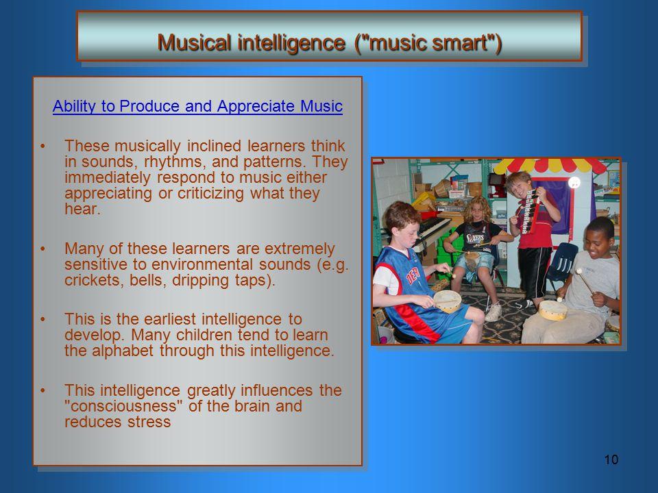 10 Musical intelligence (