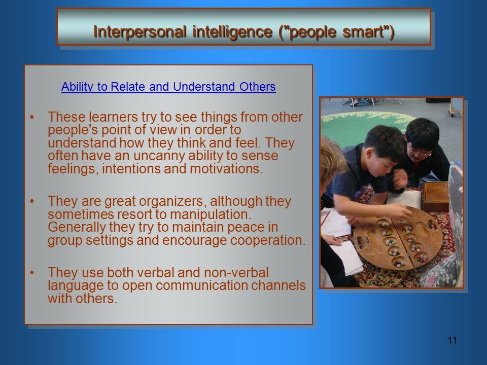 11 Interpersonal intelligence (