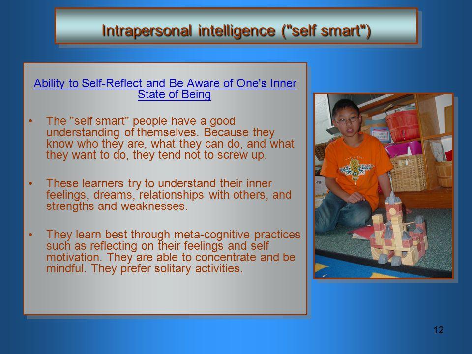 12 Intrapersonal intelligence (