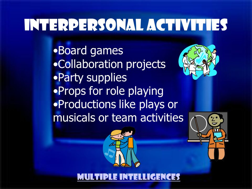 Team player Sharing quality Talks a lot Many friends Comfortable in a crowd Enjoys multi player games Leadership Interpersonal Traits Multiple Intelligences
