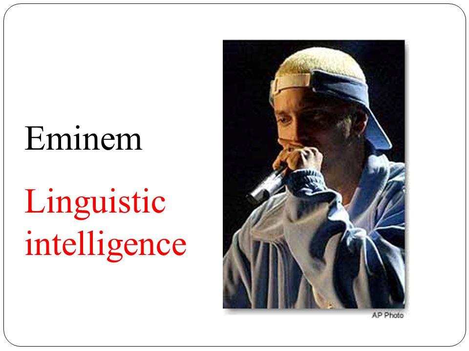 Eminem Linguistic intelligence