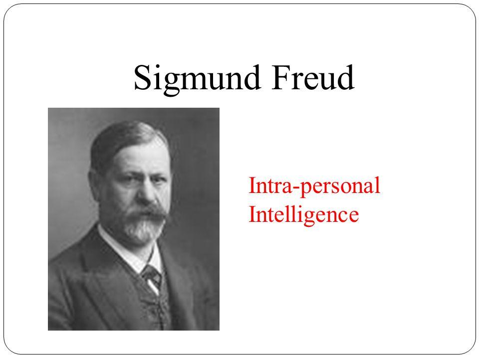Sigmund Freud Intra-personal Intelligence