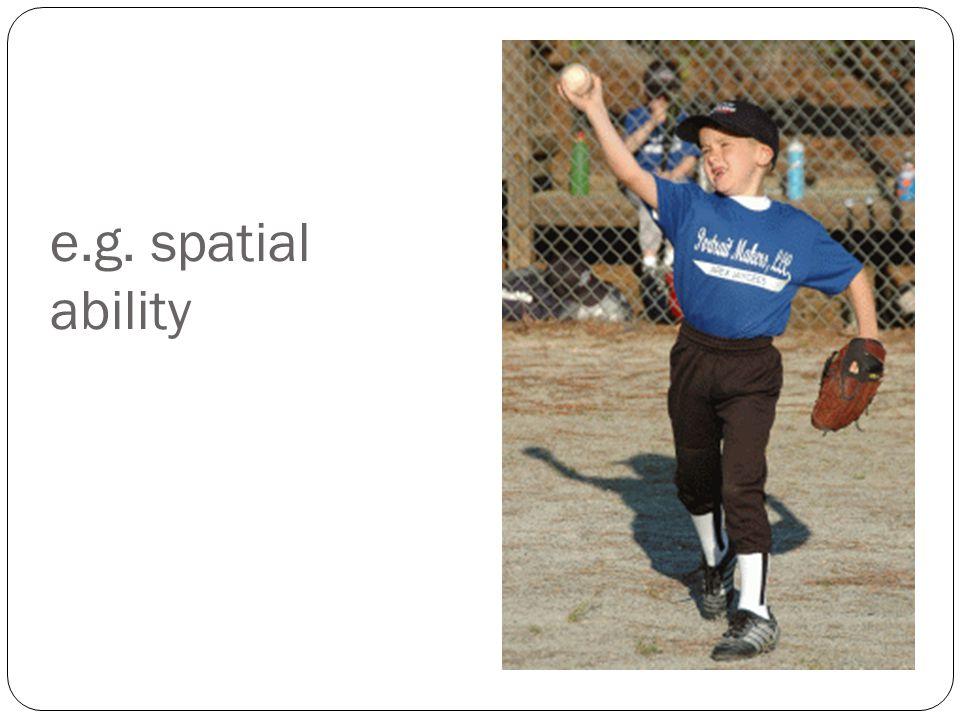 e.g. spatial ability