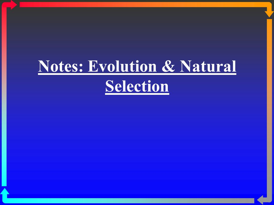 Notes: Evolution & Natural Selection