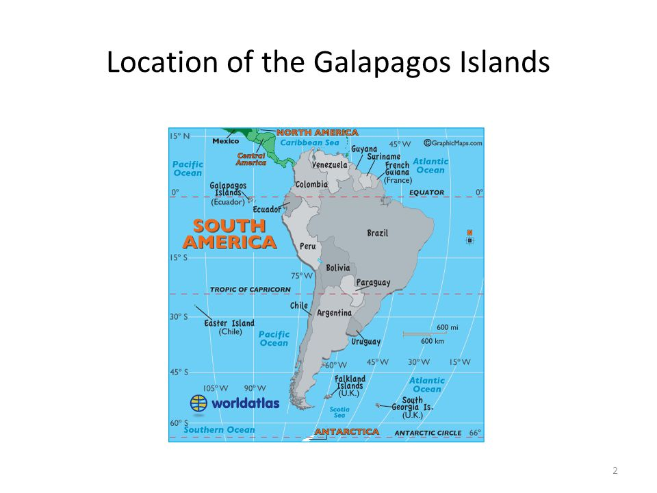Location of the Galapagos Islands 2