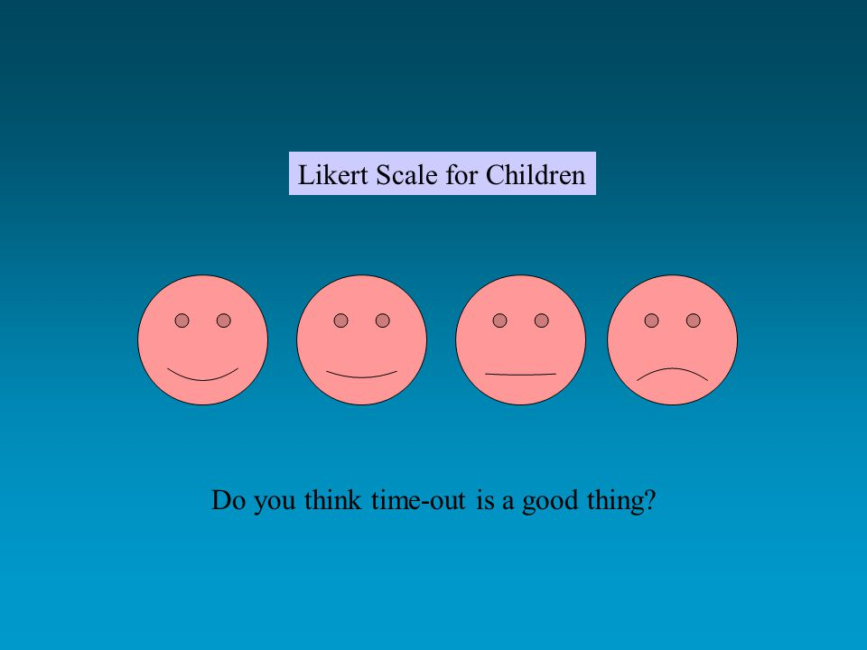 Likert Scale for Children Do you think time-out is a good thing?