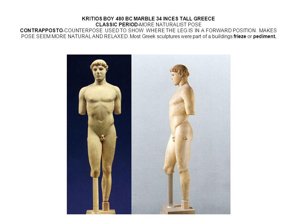 Sculptures on Pediments and Friezes.