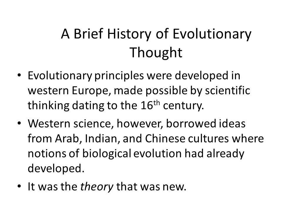 historical development of theories of evolution