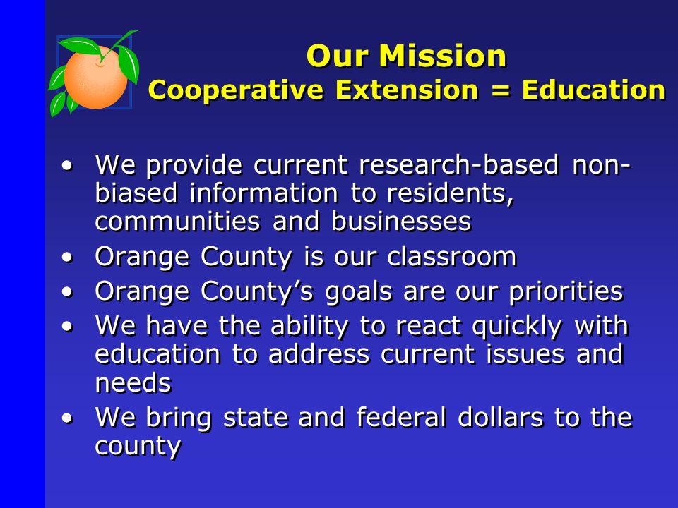 Cooperative Extension Education Center 6021 South Conway Road Orlando, Florida 32817