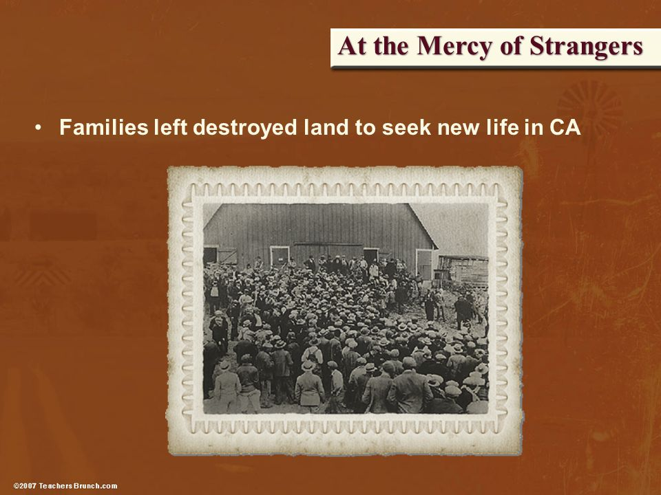 At the Mercy of Strangers Families left destroyed land to seek new life in CA