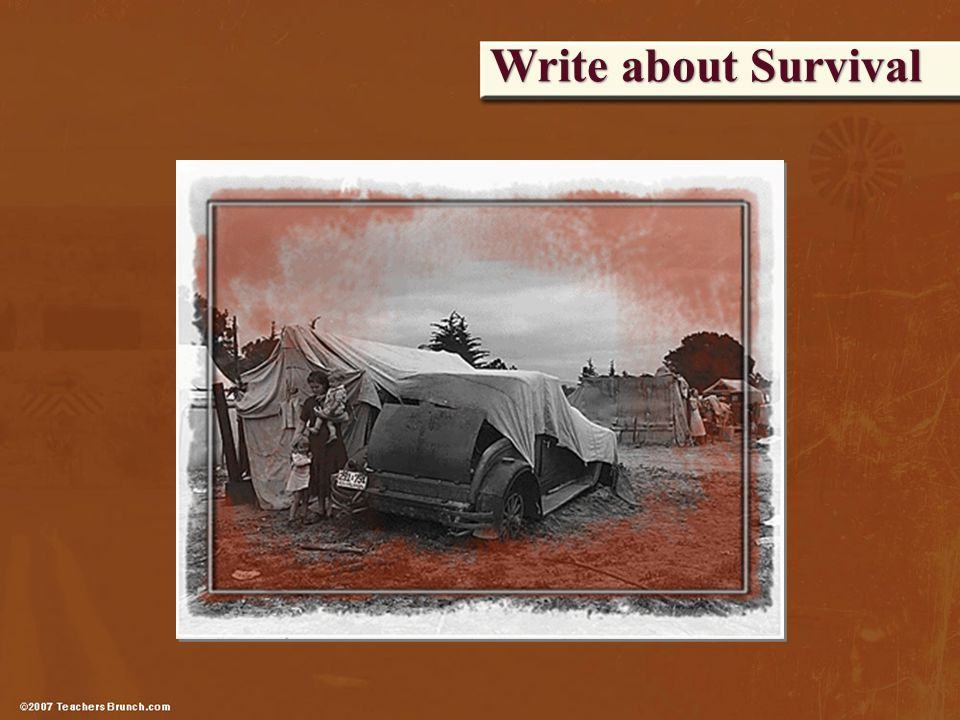 Write about Survival