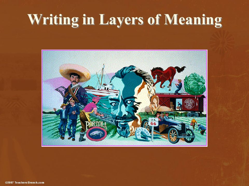 Writing in Layers of Meaning