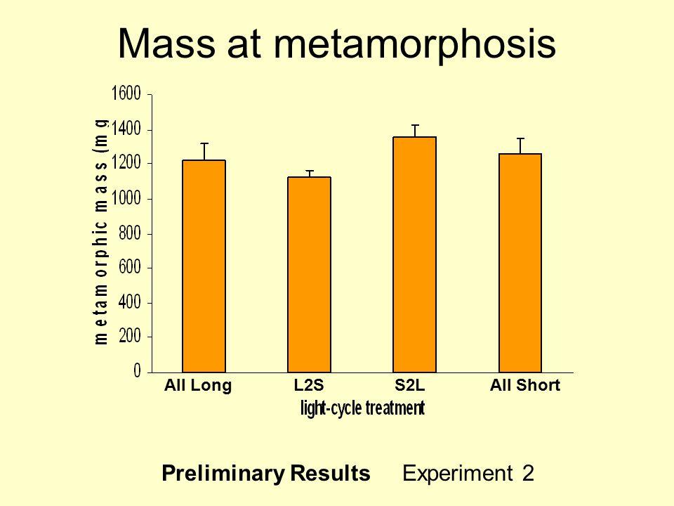 All ShortS2LL2SAll Long Mass at metamorphosis